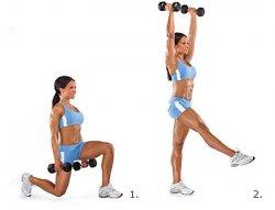 Комплексные упражнения для женщин с гантелями